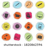 office color vector icons for... | Shutterstock .eps vector #1820862596