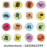 business color vector icons for ... | Shutterstock .eps vector #1820862599