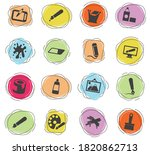 graphic editor tools icons for... | Shutterstock .eps vector #1820862713