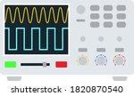 oscilloscope icon. flat color...