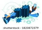 hashtag concept. man and woman... | Shutterstock .eps vector #1820872379