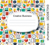 flat business background.... | Shutterstock .eps vector #182087543