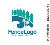 Modern Fence Logo With Palm...