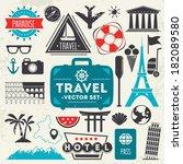 travel icons.vector | Shutterstock .eps vector #182089580