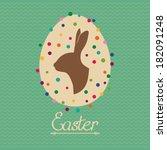 Easter Vintage Card With Easte...