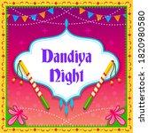dandiya night greeting card... | Shutterstock .eps vector #1820980580