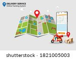 concept of delivery service ...   Shutterstock .eps vector #1821005003