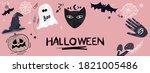 halloween pink banner  cute... | Shutterstock . vector #1821005486