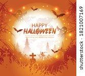 halloween horror background... | Shutterstock .eps vector #1821007169