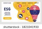 vector website design template .... | Shutterstock .eps vector #1821041933