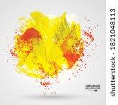 figured brush strokes brush and ... | Shutterstock .eps vector #1821048113