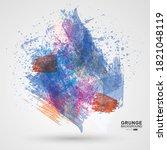 figured brush strokes brush and ... | Shutterstock .eps vector #1821048119