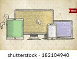 vintage engraving style icons.... | Shutterstock .eps vector #182104940