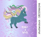 unicorn with the inscription ...   Shutterstock .eps vector #1821066146