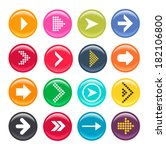 glossy vector arrow icon set. | Shutterstock .eps vector #182106800