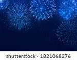 Abstract Blue Fireworks...