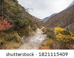 path to everest base camp.... | Shutterstock . vector #1821115409