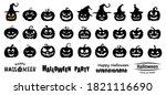 halloween pumpkin silhouette... | Shutterstock .eps vector #1821116690