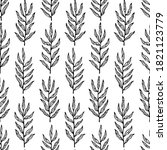 vector seamless pattern with... | Shutterstock .eps vector #1821123779