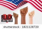 black lives matter banner for... | Shutterstock .eps vector #1821128720