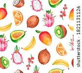 watercolor seamless pattern... | Shutterstock . vector #1821131126