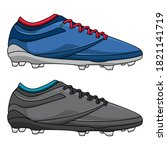 mens football training shoes ... | Shutterstock .eps vector #1821141719