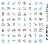 satellite icons set. collection ...   Shutterstock .eps vector #1821158429