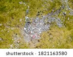 Aerial View Of The Wreckage Of...
