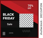 black friday sale design... | Shutterstock .eps vector #1821169106