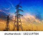 high voltage post.   Shutterstock . vector #182119784