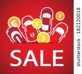 Car sale. vector