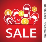 Car sale. vector - stock vector