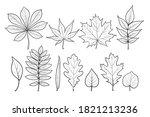illustration of tree leaves.... | Shutterstock .eps vector #1821213236