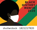 black history month person with ...   Shutterstock .eps vector #1821217820