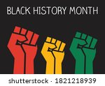 black history month fists...   Shutterstock .eps vector #1821218939