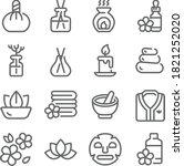 spa relax icon illustration... | Shutterstock .eps vector #1821252020