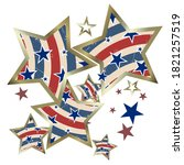 american patriotic stars and... | Shutterstock .eps vector #1821257519
