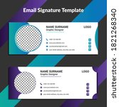 professional email signature... | Shutterstock .eps vector #1821268340