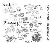 fruit | Shutterstock .eps vector #182127158