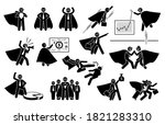 super businessman icon set.... | Shutterstock .eps vector #1821283310