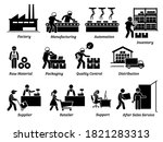 production manufacturing... | Shutterstock .eps vector #1821283313