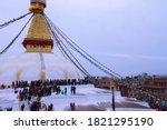 Boudhanath Is A Stupa In...