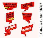 set of vector sales label...   Shutterstock .eps vector #1821307499