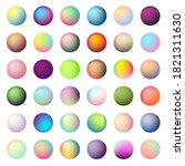 holographic gradient sphere set....