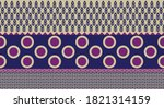 seamless vector border with... | Shutterstock .eps vector #1821314159