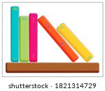 vector bookshelf icon. vector...