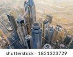 Aerial View Of Dubai Marina...