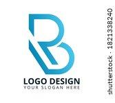 b r letter unique brand logo...
