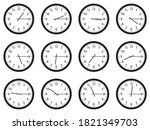 set of analog wall clocks with... | Shutterstock .eps vector #1821349703