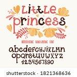 kids font. typography alphabet... | Shutterstock .eps vector #1821368636